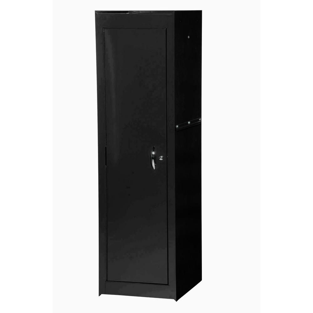 Tech Series 15.38 in. 2-Shelf Deep Side Chest in Black