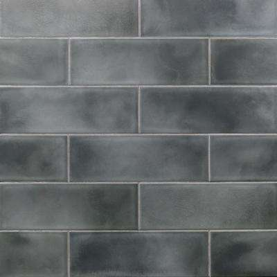 Piston Camp Gray 4 in. x 12 in. 7mm Glazed Ceramic Subway Wall Tile (34-piece 10.97 sq. ft. / box)