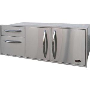 Click here to buy Cal Flame Outdoor Kitchen Stainless Steel Complete Utility Storage Set by Cal Flame.