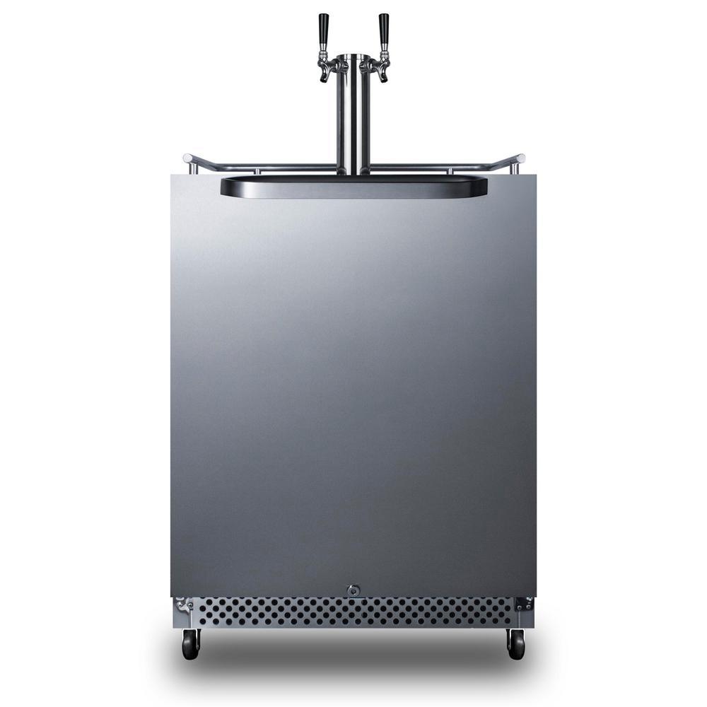 Summit Appliance Twin Tap Outdoor Commercial Built-In Beer Dispenser