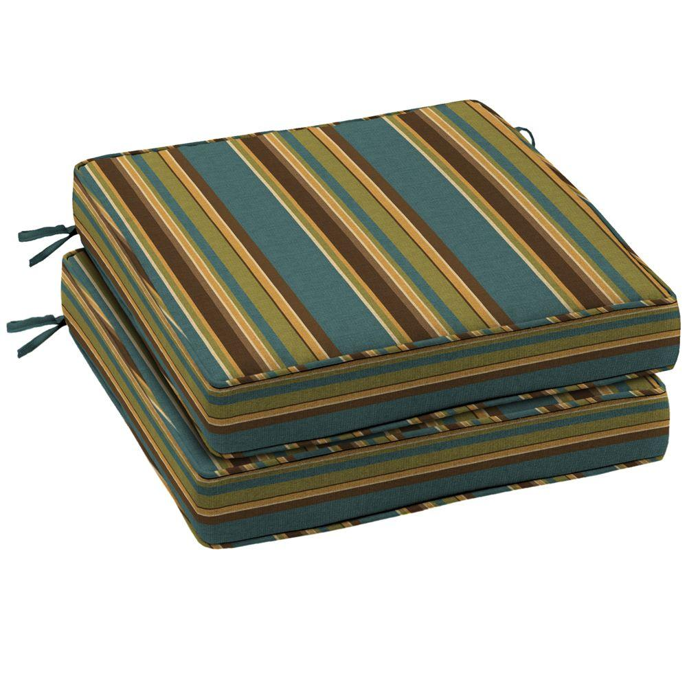Arden Lakeside Stripe Seat Outdoor Cushion 2 Pack-DISCONTINUED