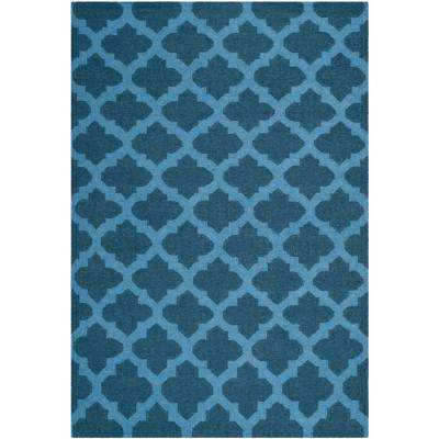Dhurries Ink 5 ft. x 8 ft. Area Rug