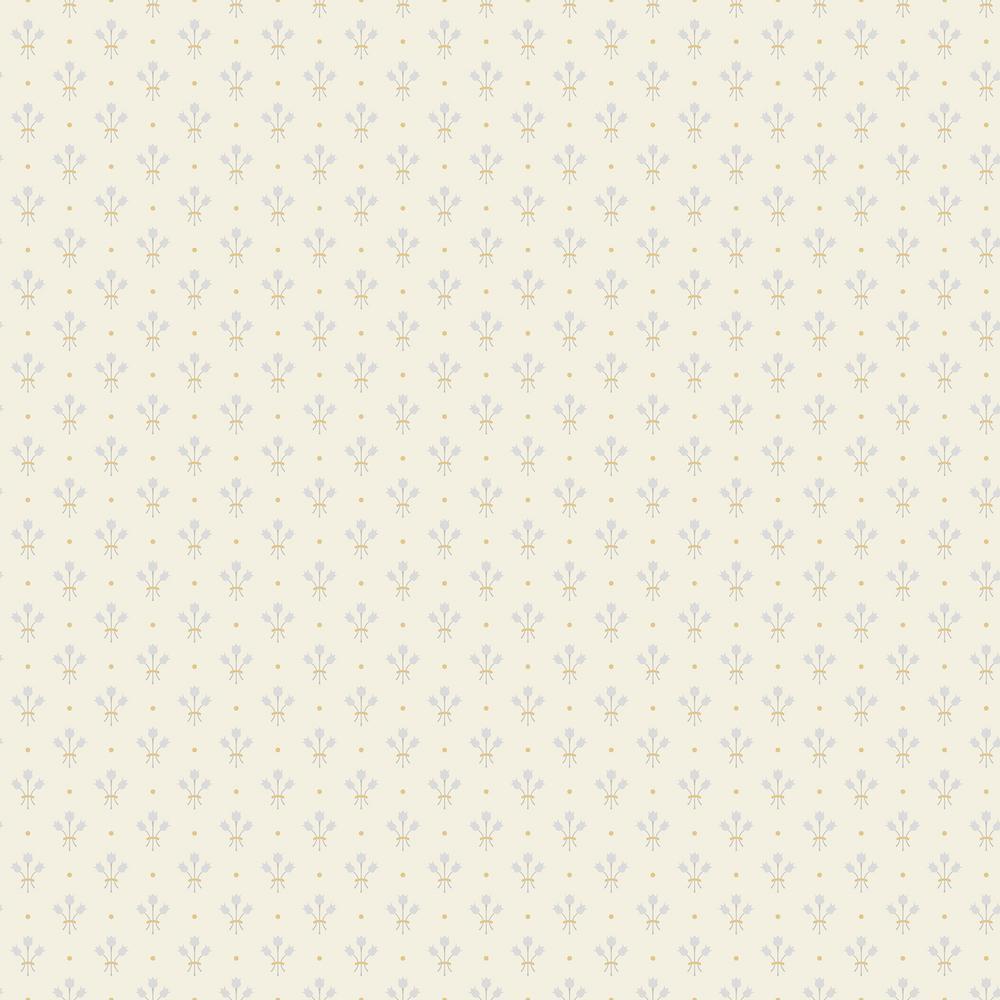 Lili White Miniature Floral Wallpaper