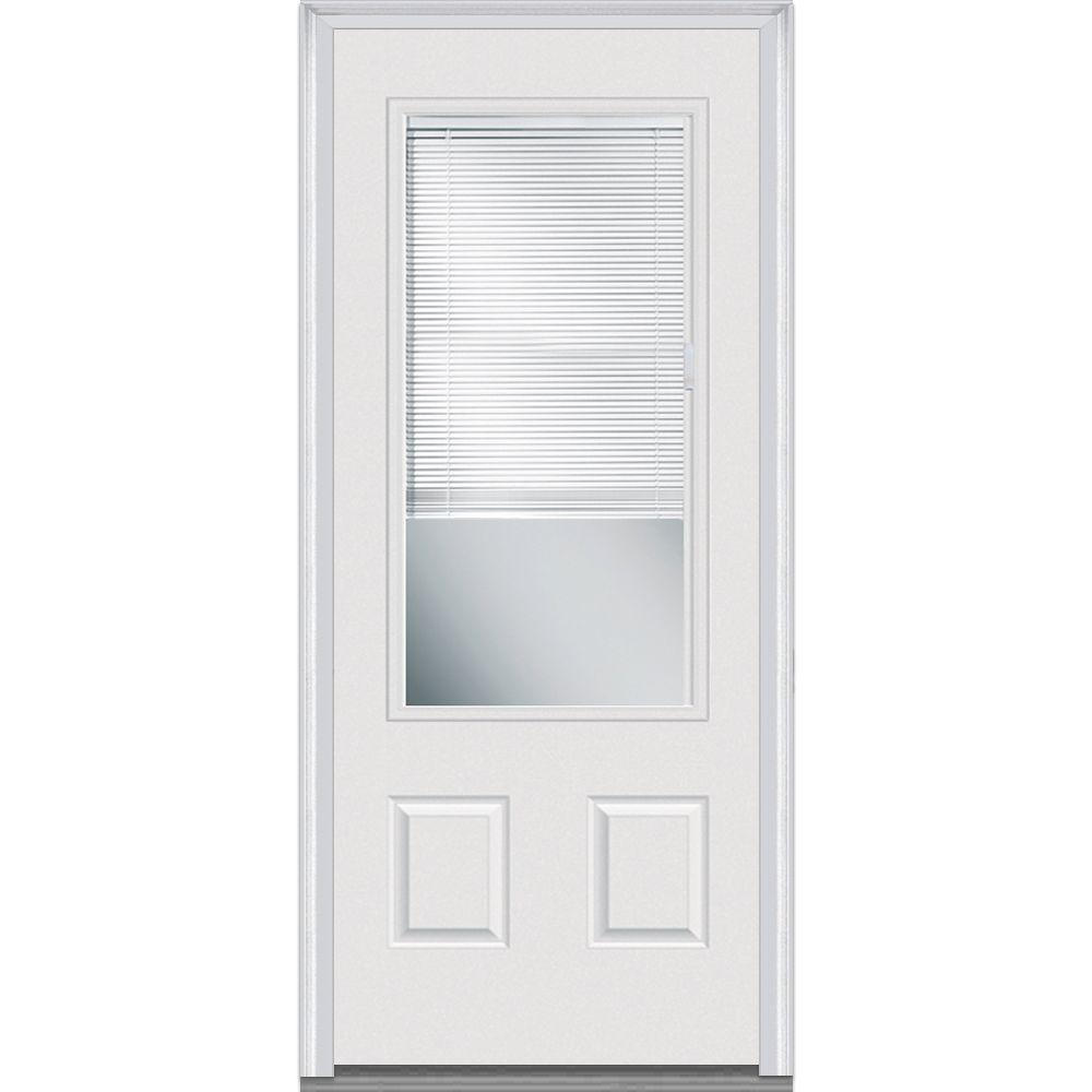 MMI Door 32 In. X 80 In. Internal Blinds Right Hand 3/