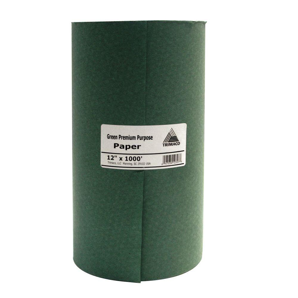12 in. x 1000 ft. Green Masking Paper