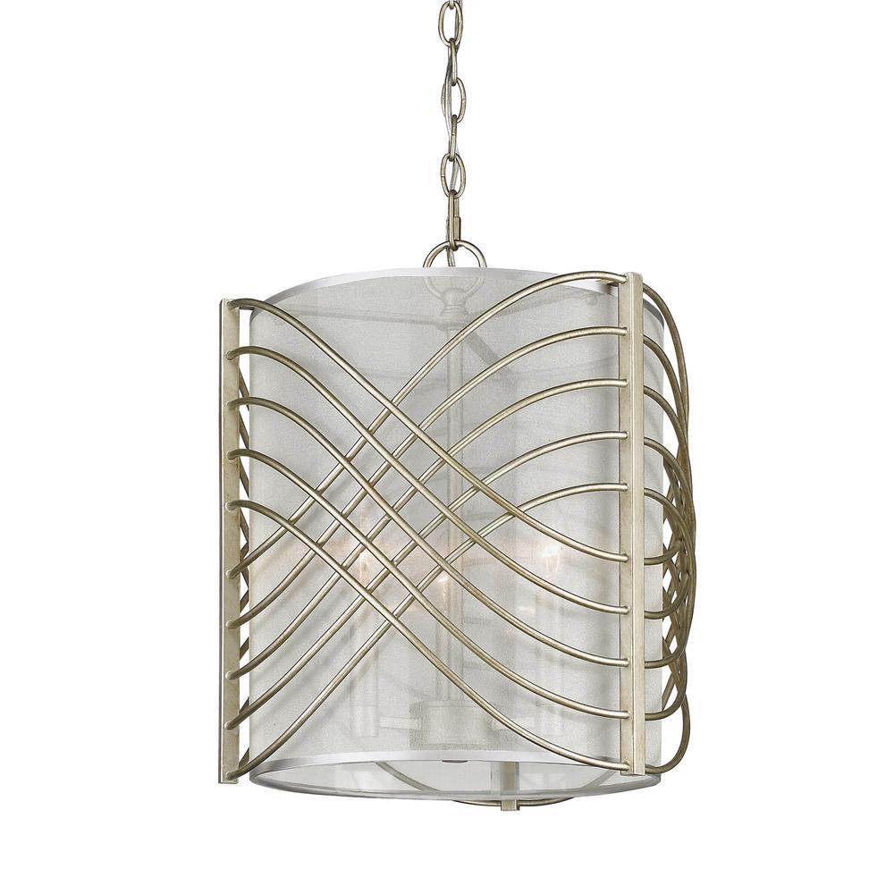 Zara 3-Light White Gold Pendant