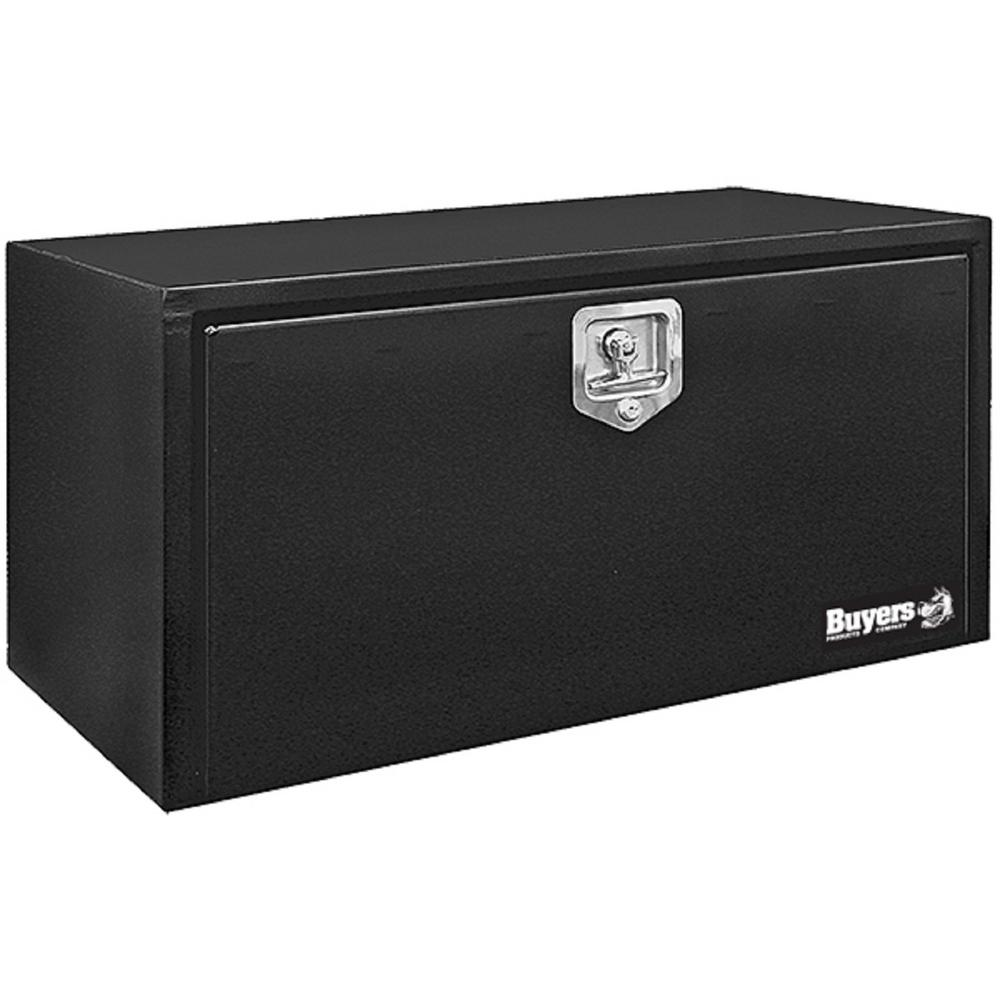 24 in. Black Steel Underbody Tool Box with T-Handle Latch