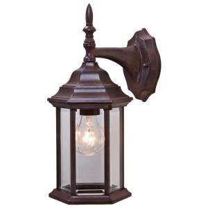 Craftsman 2 Collection 1 Light Burled Walnut Outdoor Wall Mount Fixture