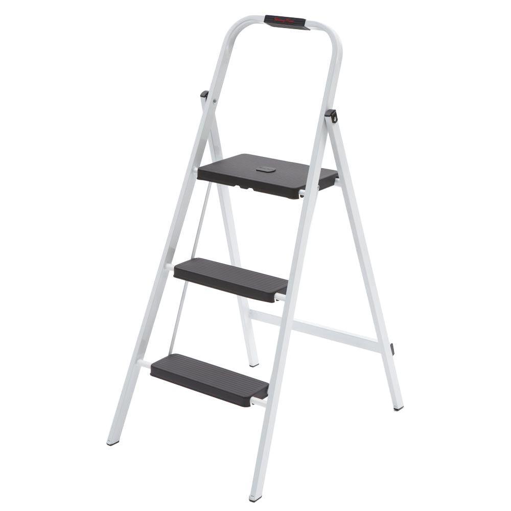 3-Step Steel Skinny Mini Step Stool Ladder