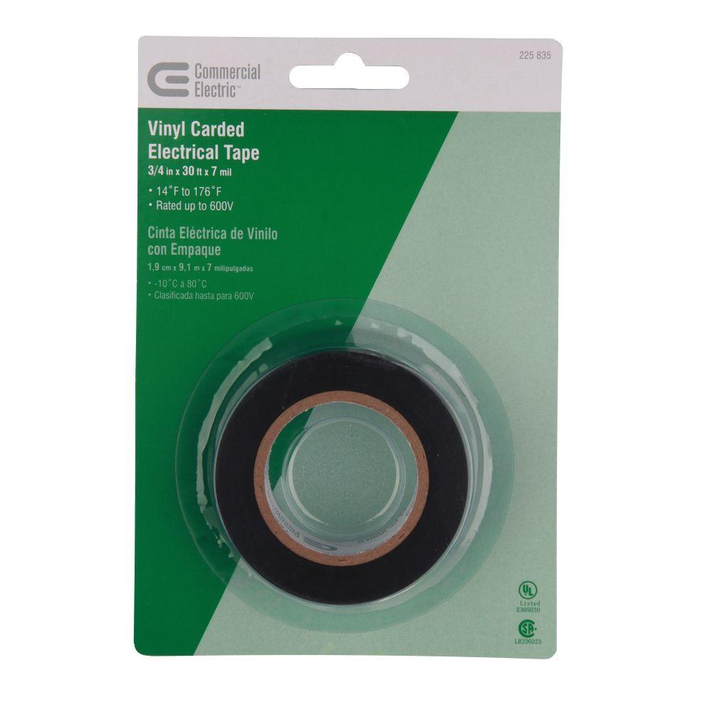 Commercial Electric 3/4 in. x 30 ft. Vinyl Carded Electric Tape