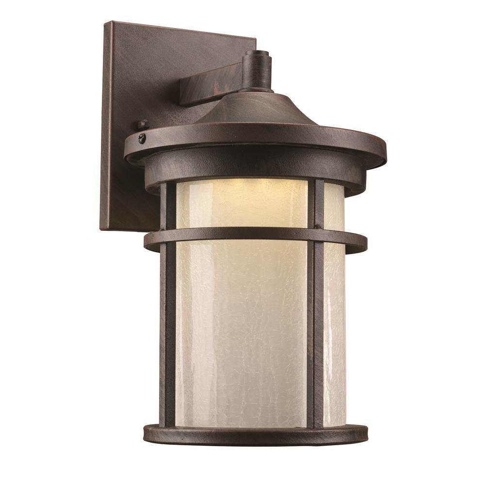 Avalon 6-Watt Rust Outdoor Integrated LED Wall Mount Lantern
