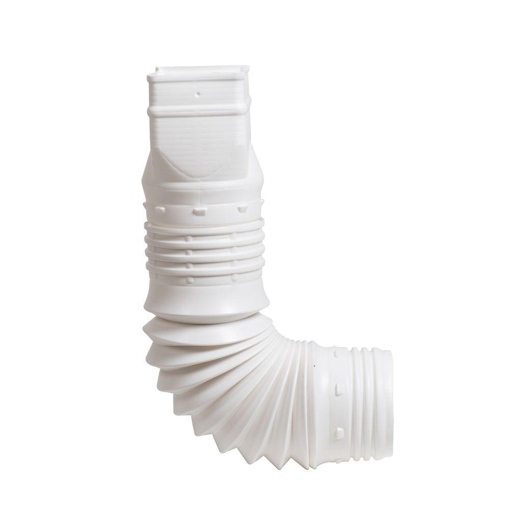 3 in. x 4 in. White Downspout Adapter