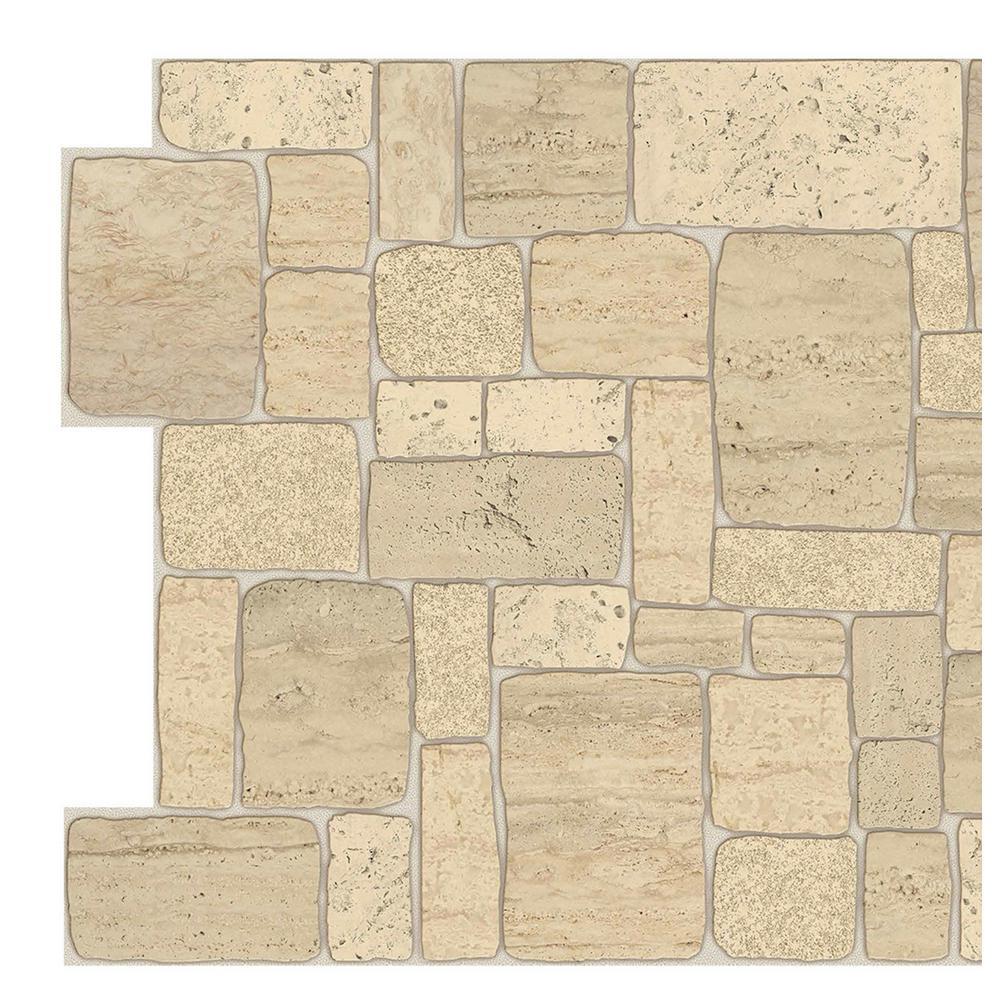 3d Falkirk Retro 10 1000 In X 39 In X 20 In Light Beige Faux Limestone Pvc Wall Panel