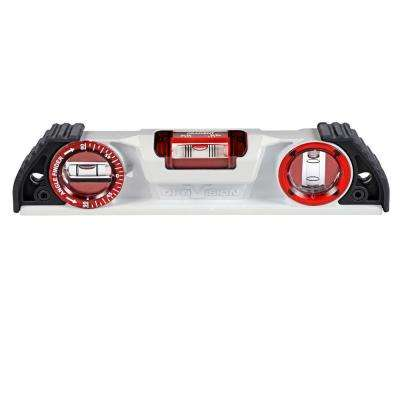 10 in. Magnetic Cast Torpedo Level with OPTIVISION and Angle Finder