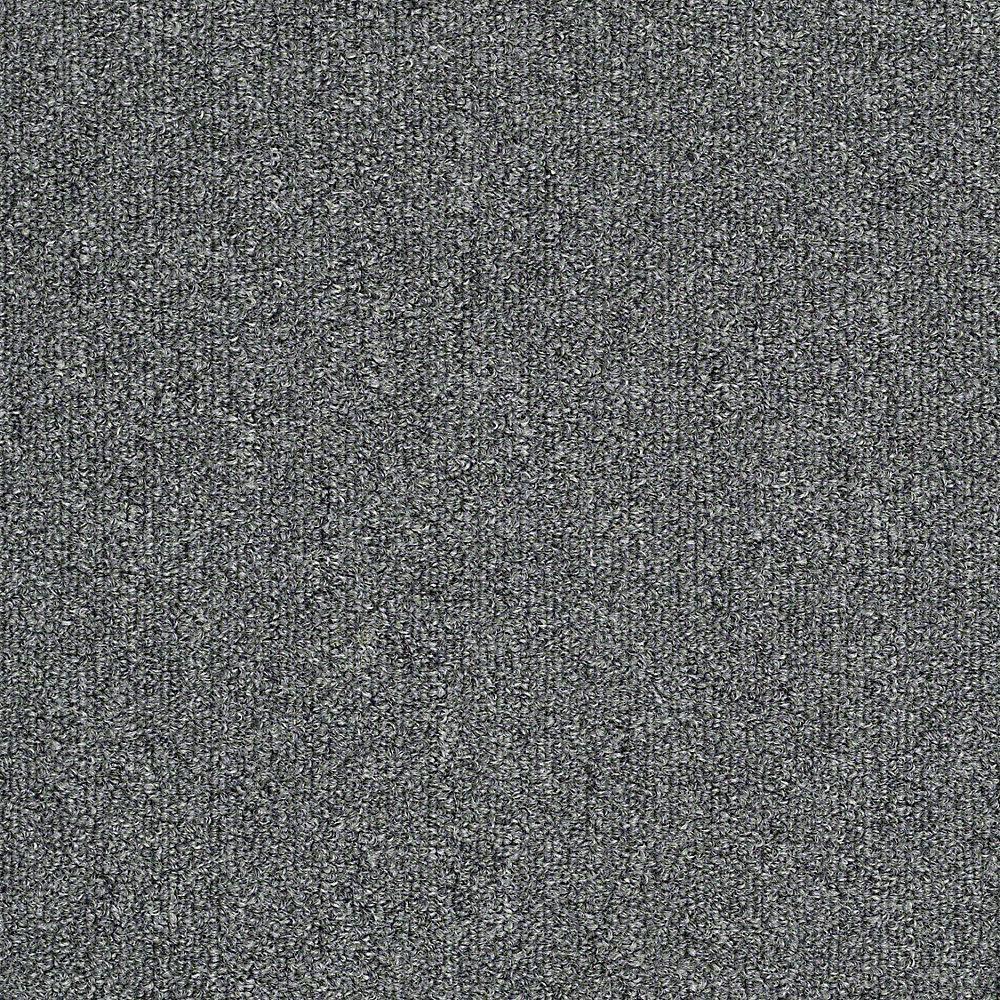 Carpet Sample - Soma Lake - In Color Graphite Texture 8 in. x 8 in.