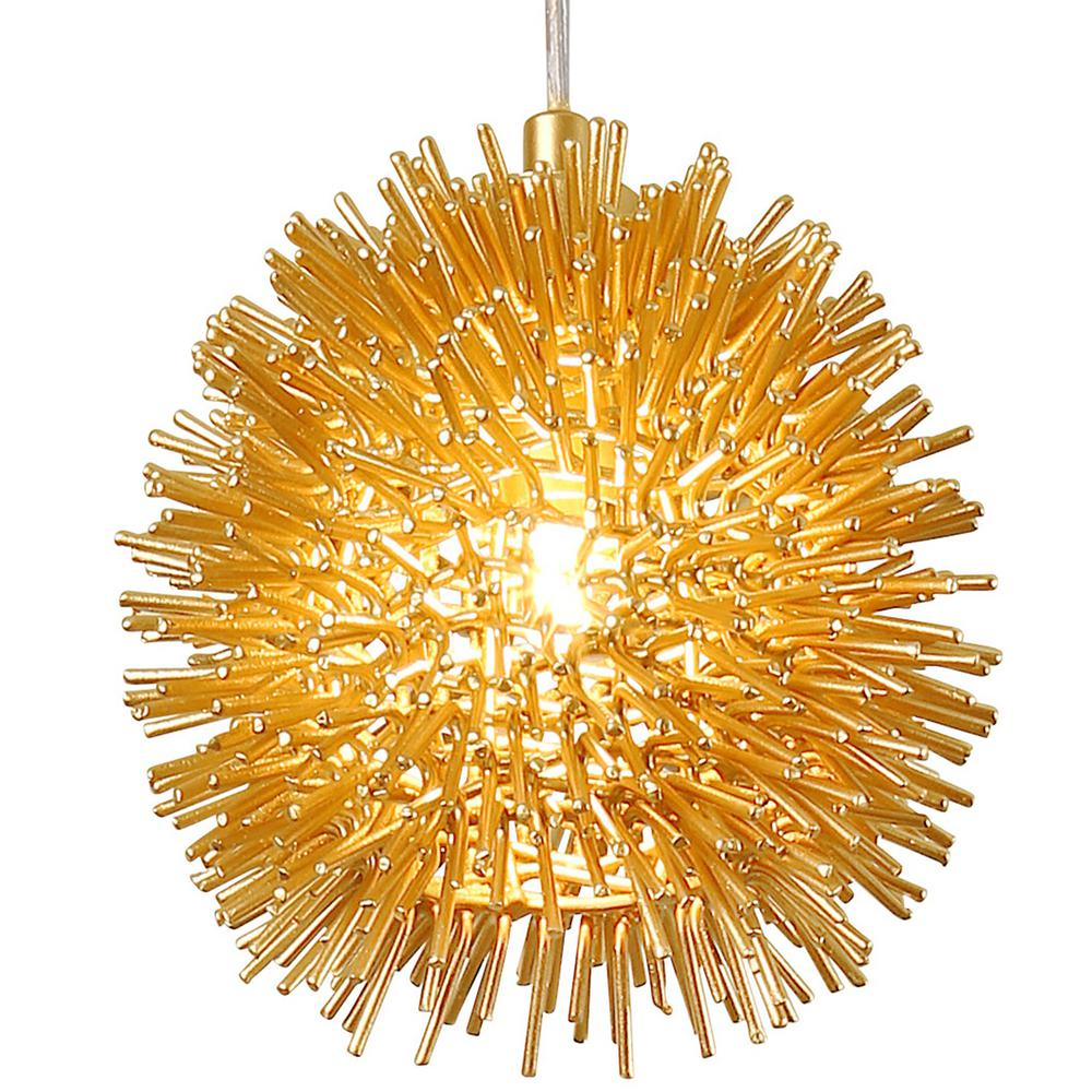 Varaluz Urchin 1-Light Gold Uber Mini Pendant