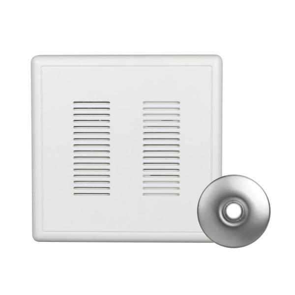 PrimeChime Plus 2 Video Compatible Wired Door Bell Chime Kit with Nickel Stucco Button