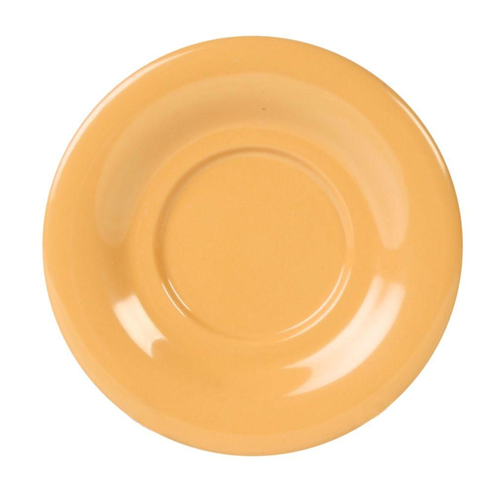 Restaurant Essentials Coleur 5-1/2 in. Saucer for Cr303/Cr9018 in Yellow (12-Piece)