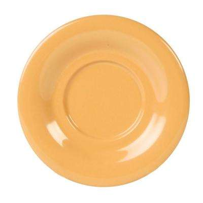 Coleur 5-1/2 in. Saucer for Cr303/Cr9018 in Yellow (12-Piece)