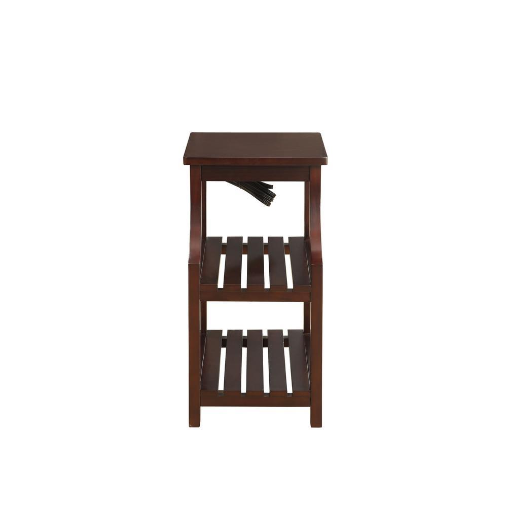 Wasaki Espresso Storage Side Table