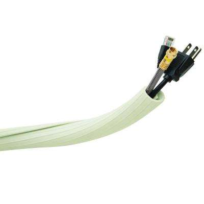 12 ft. Flexi Cable Wrap, White