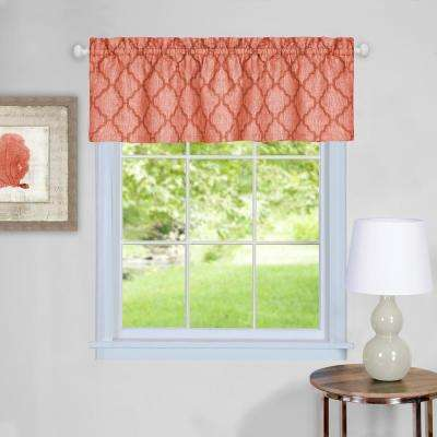 Colby 14 in. L Polyester Valance in Orange