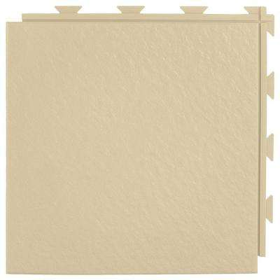 Hiddenlock Slate Top Tan 12 in. x 12 in. x 0.25 in. PVC Plastic Interlocking Basement Floor Tile (Case of 20)