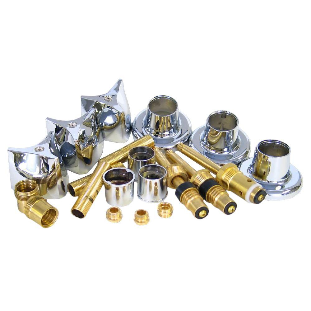 Crane Rebuild Kit This is a Crane complete shower valve rebuild kit. All the parts needed to give a fresh new look to your shower. No hassle installation. You do not have to remove the valve inside the wall.