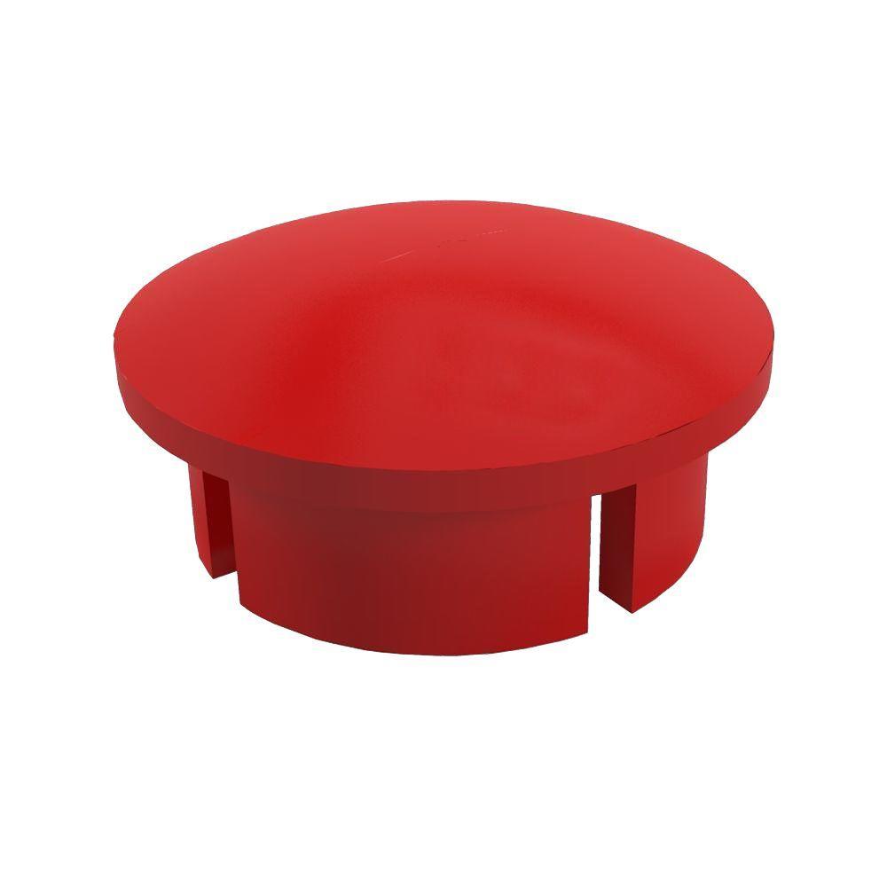 3/4 in. Furniture Grade PVC Internal Dome Cap in Red (10-Pack)