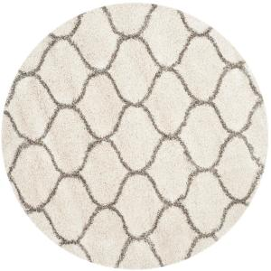 Safavieh Hudson Shag Ivory/Gray 8 ft. x 8 ft. Round Area Rug by Safavieh