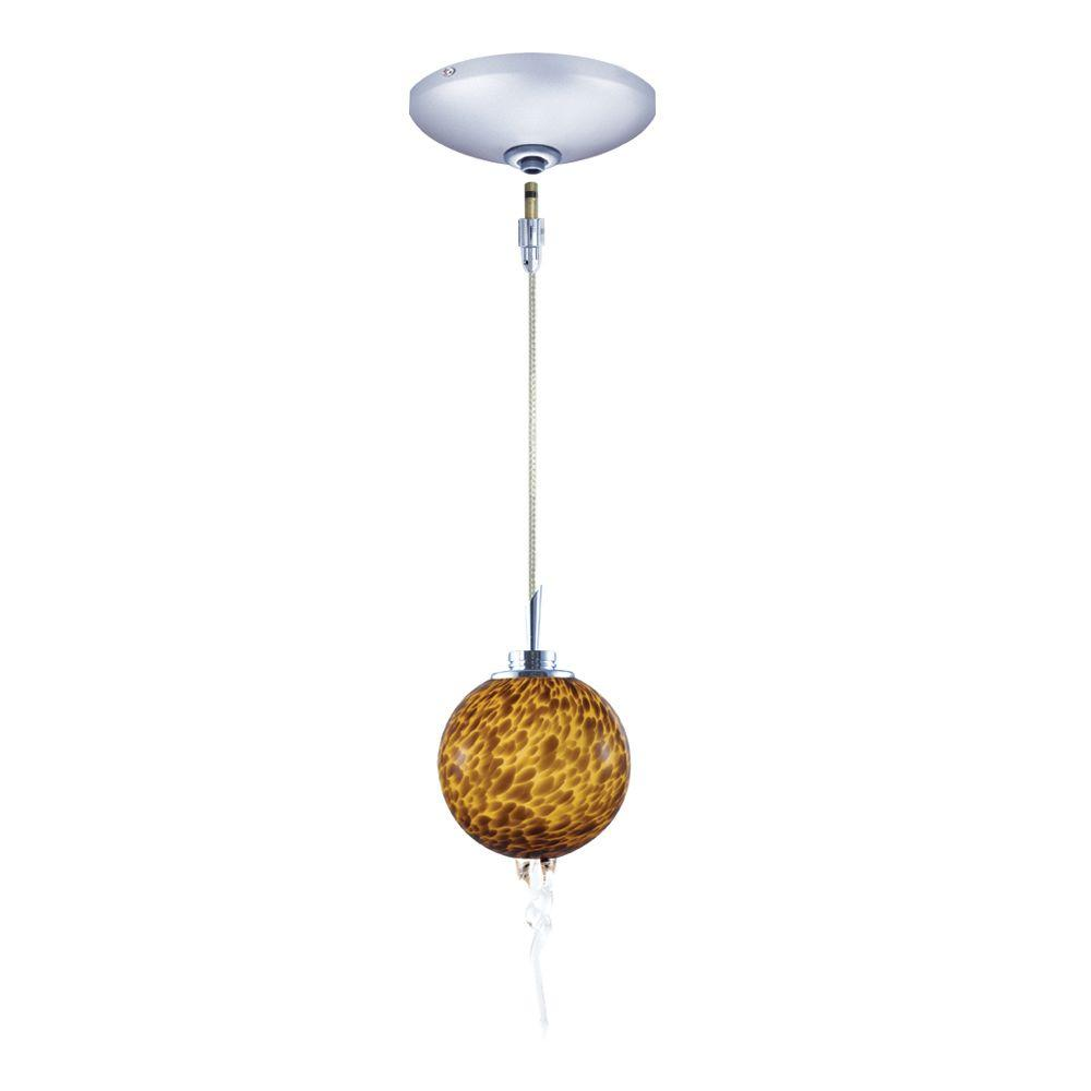 Low Voltage Quick Adapt 4 in. x 106-1/4 in. Amber Pendant