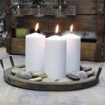 6 in. White Unscented Pillar Candles (Set of 6)