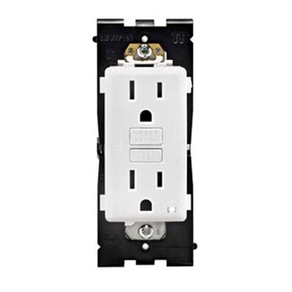 Leviton Renu 15 Amp Tamper Resistant GFCI Duplex Outlet - White on White-DISCONTINUED