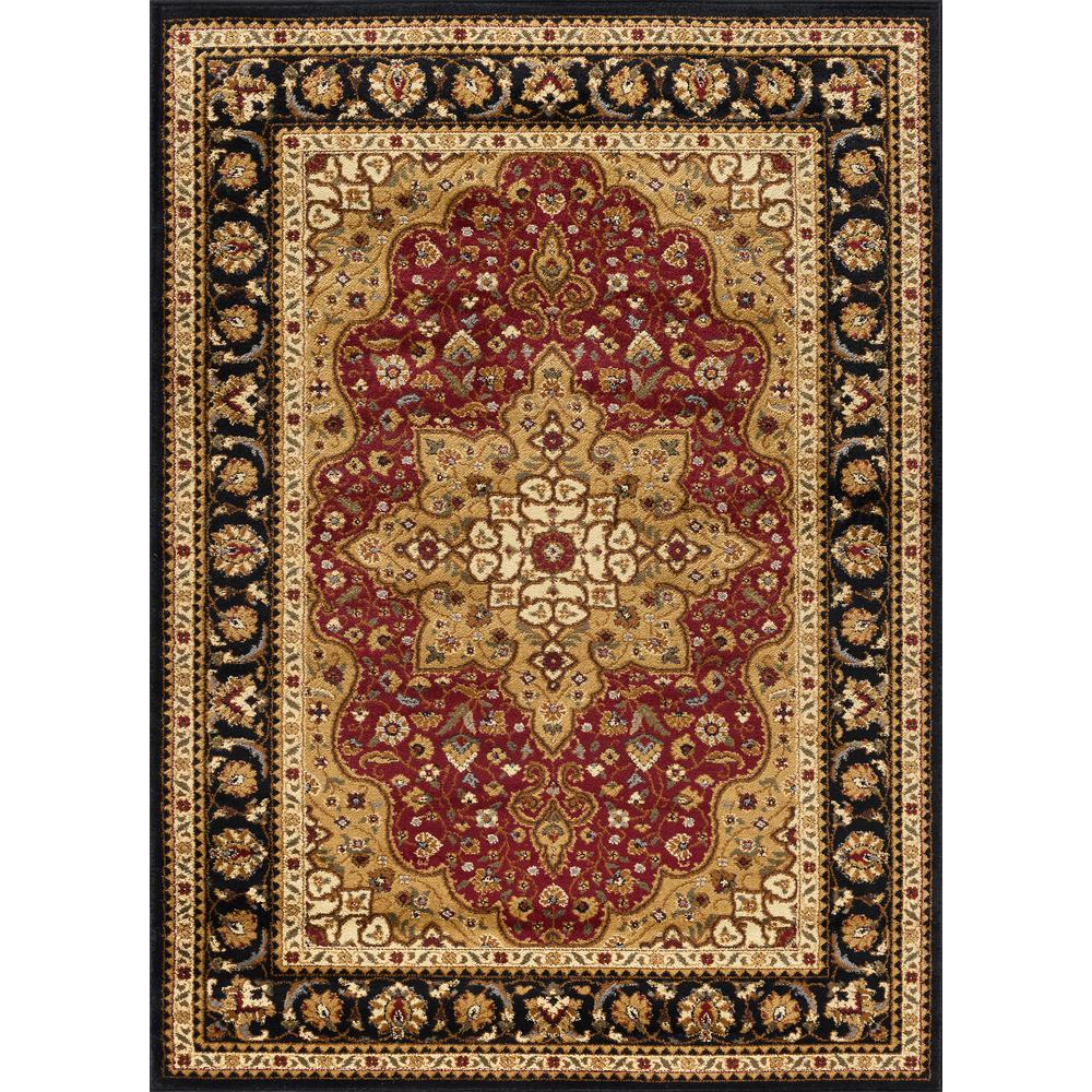 Elegance Red 5 ft. x 7 ft. Traditional Area Rug