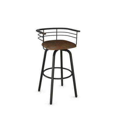 Turbo 26 in. Semi-Transparent Gun Metal Medium Brown Polyester Counter Stool