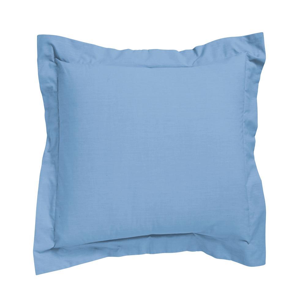The Company Store Classic Porcelain Blue Percale Euro Sham N4B7-E-PORBLUE
