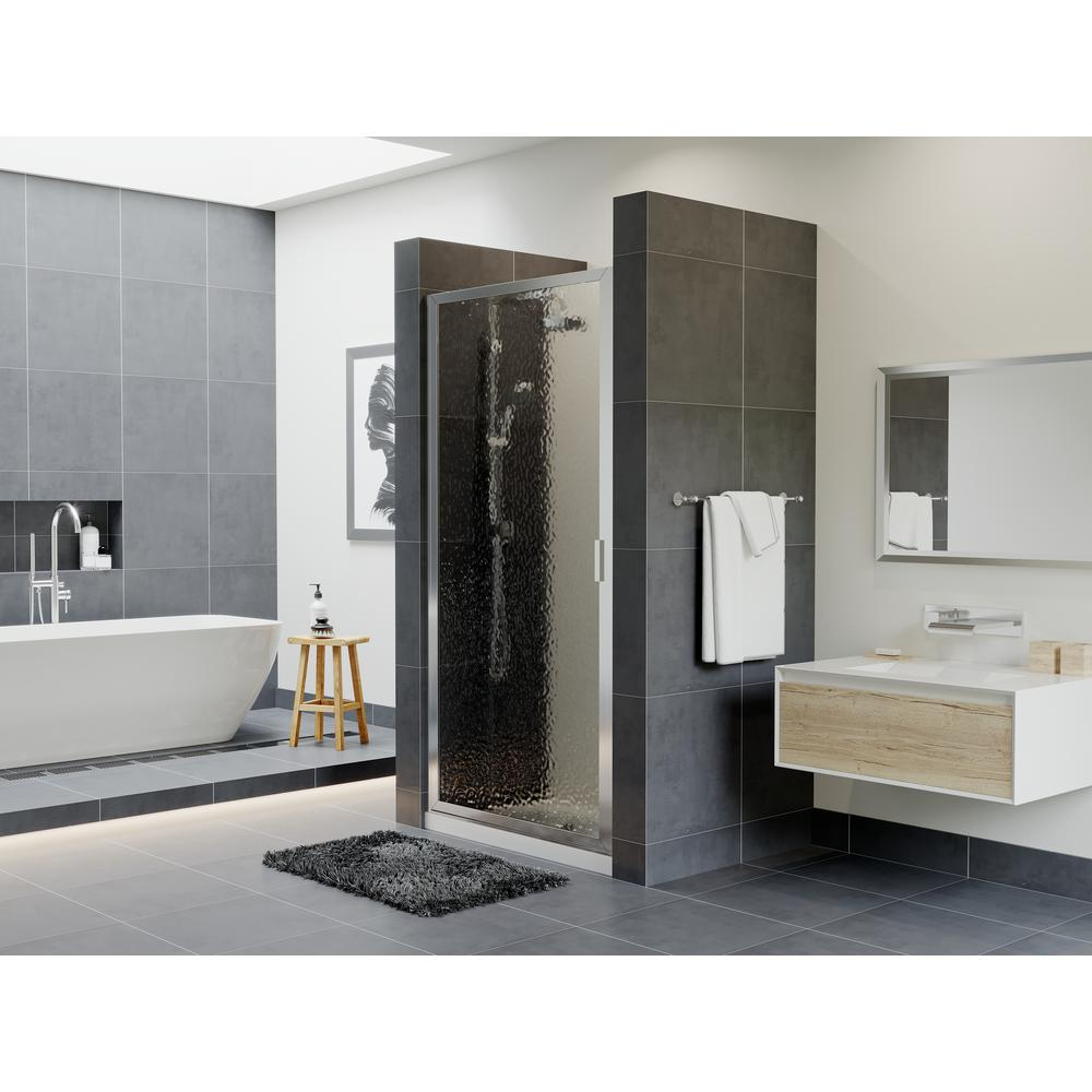 Coastal Shower Doors Paragon 23 In To 23 75 In X 70 In Framed Continuous Hinged Shower Door In Chrome With Aquatex Glass P23 70b A The Home Depot