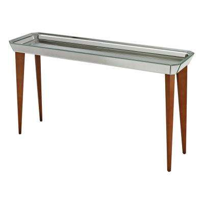 Rectangle Wood Mid Century Modern Console Tables Accent
