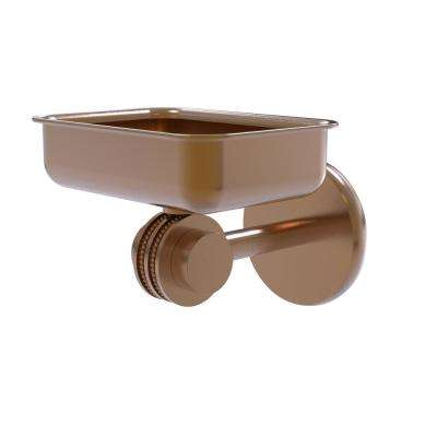 Satellite Orbit 2-Collection Wall Mounted Soap Dish with Dotted Accents in Brushed Bronze