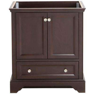 Stratfield 30 in. W x 21.57 in. D x 34.25 in. H Bath Vanity Cabinet Only in Chocolate