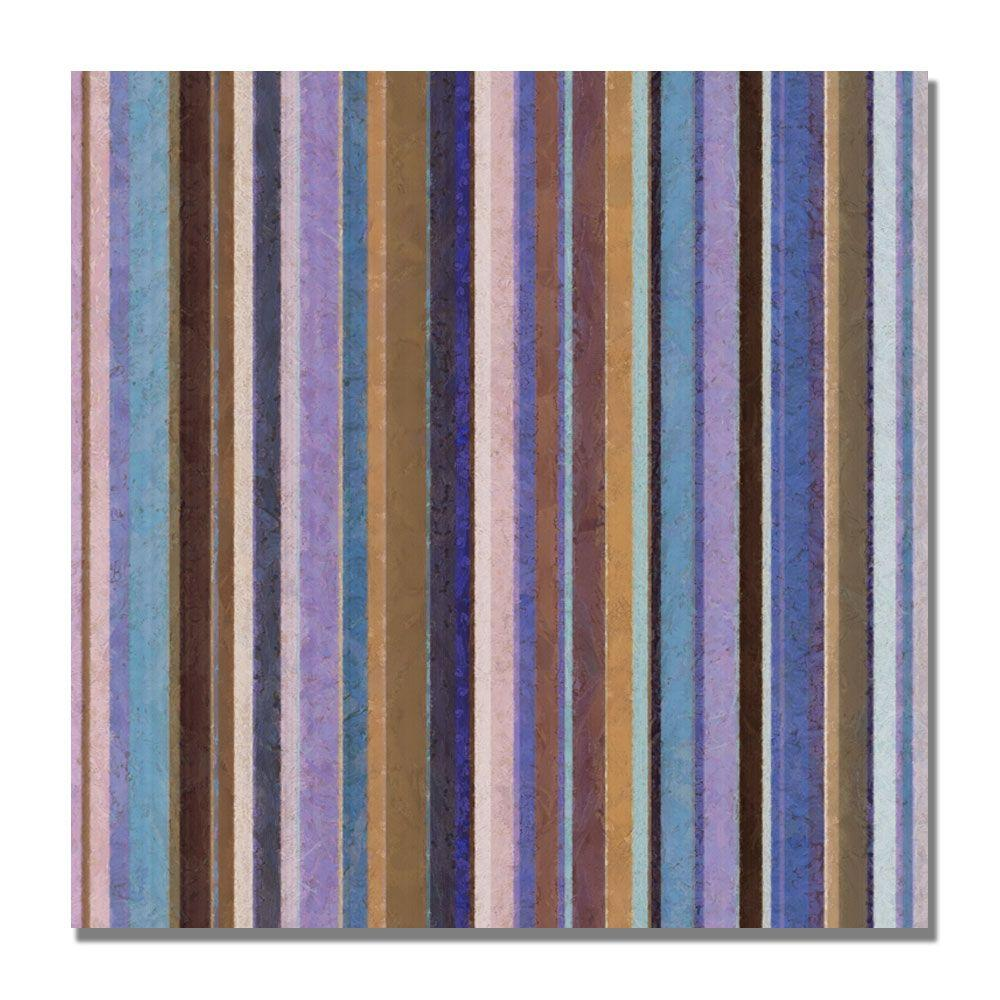 18 in. x 18 in. Comfortable Stripes II Canvas Art