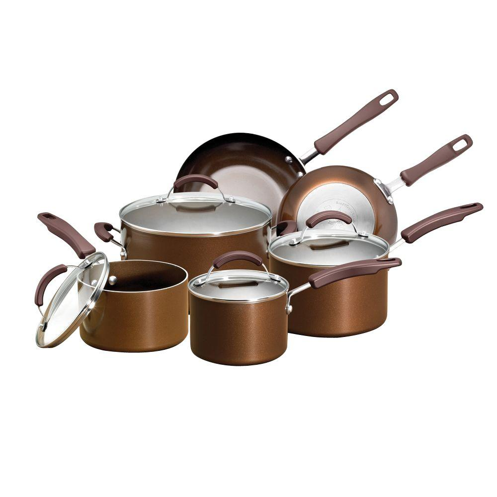 EarthPan Plus 10 Piece Cookware Set (Bronze)