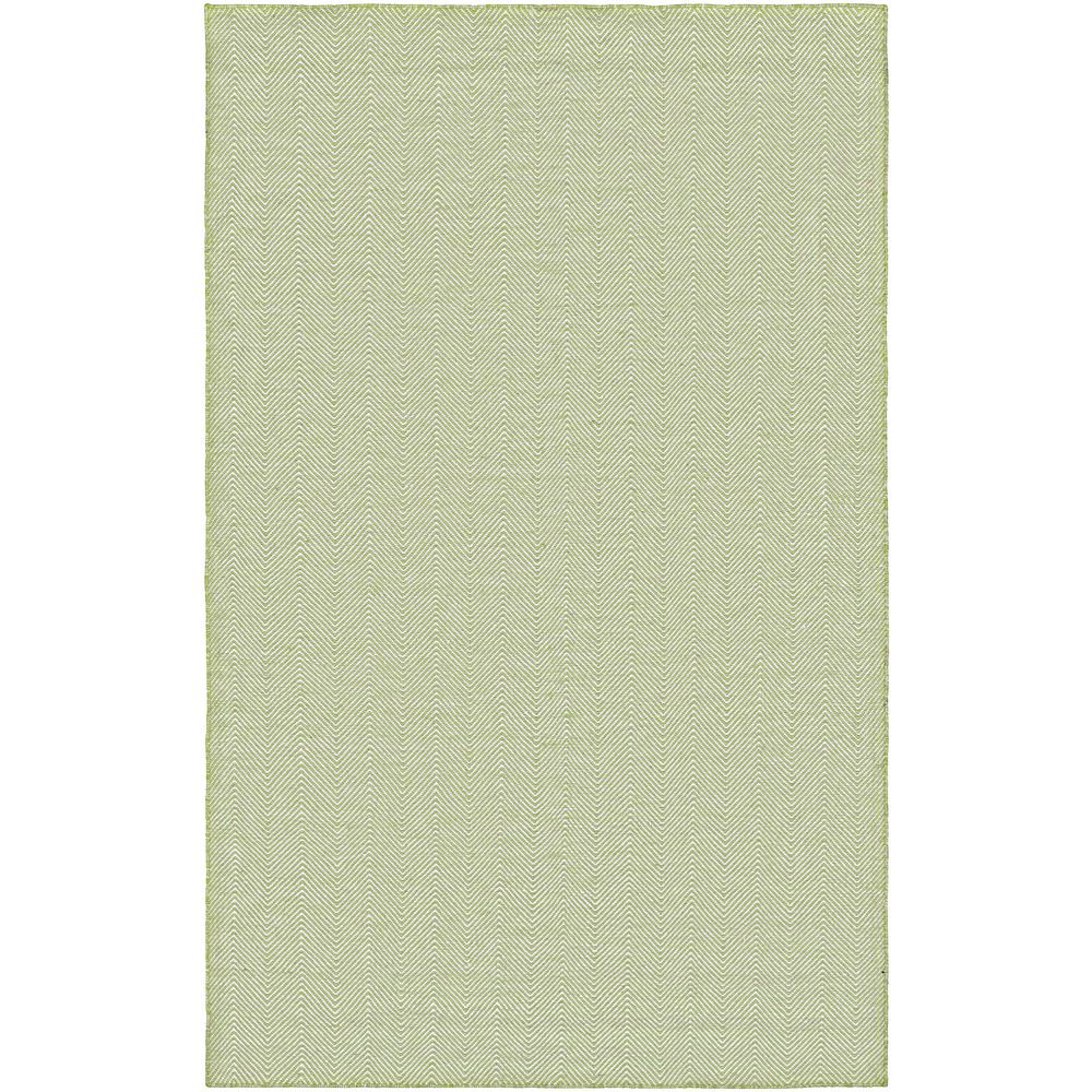 Cottages Bungalow Green 8 ft. x 10 ft. Indoor/Outdoor Area Rug