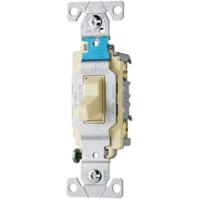20 Amp 120/277-Volt Side Wire Compact Toggle Switch, Light Almond