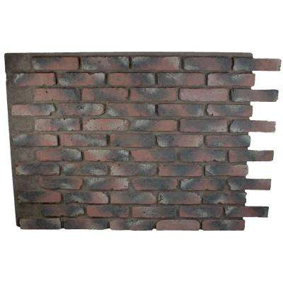 Faux Reclaimed Brick Chicago Red 32 in. x 47 in. x 3/4 in. Panel Chicago Red