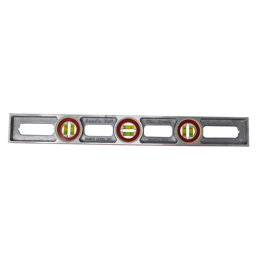 """Craftsman Magnetic Aluminum Level 24"""" Cool RED USA Made"""