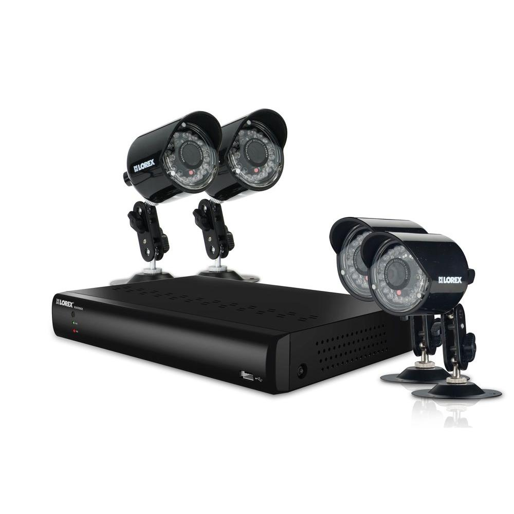 Lorex Vantage 4 CH Eco BlackBox DVR with 500GB HDD and (4x) 420TVL Wired Security Cameras-DISCONTINUED