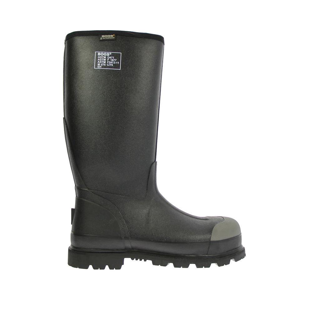 Forge Lite Steel Toe Men 16 in. Size 13 Black Waterproof Rubber Boot