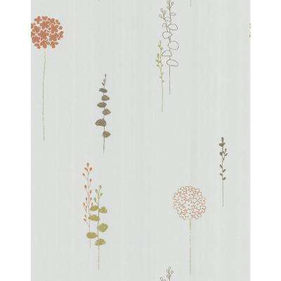 Simple Space Off White Lily of the Nile Wallpaper Sample