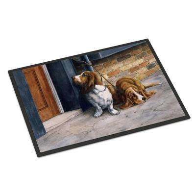18 in. x 27 in. Indoor/Outdoor Bassets Basset Hound Door Mat